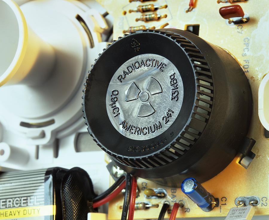 Equipment Photograph - Smoke Detector Radiation Source by Martin Bond