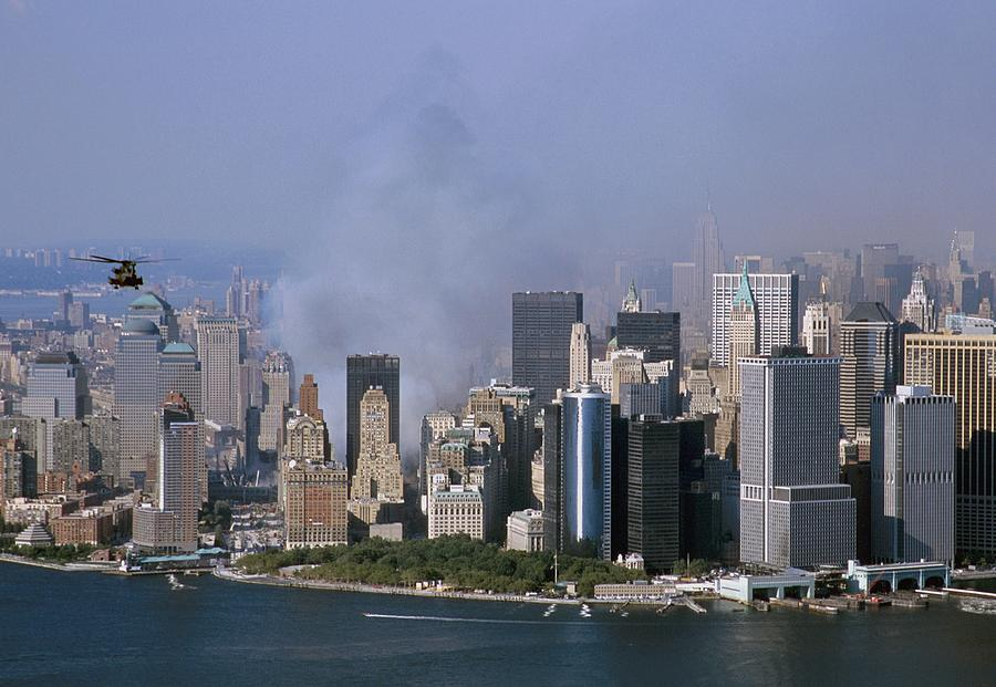 2000s Photograph - Smoke From The Ruins Of The World Trade by Everett