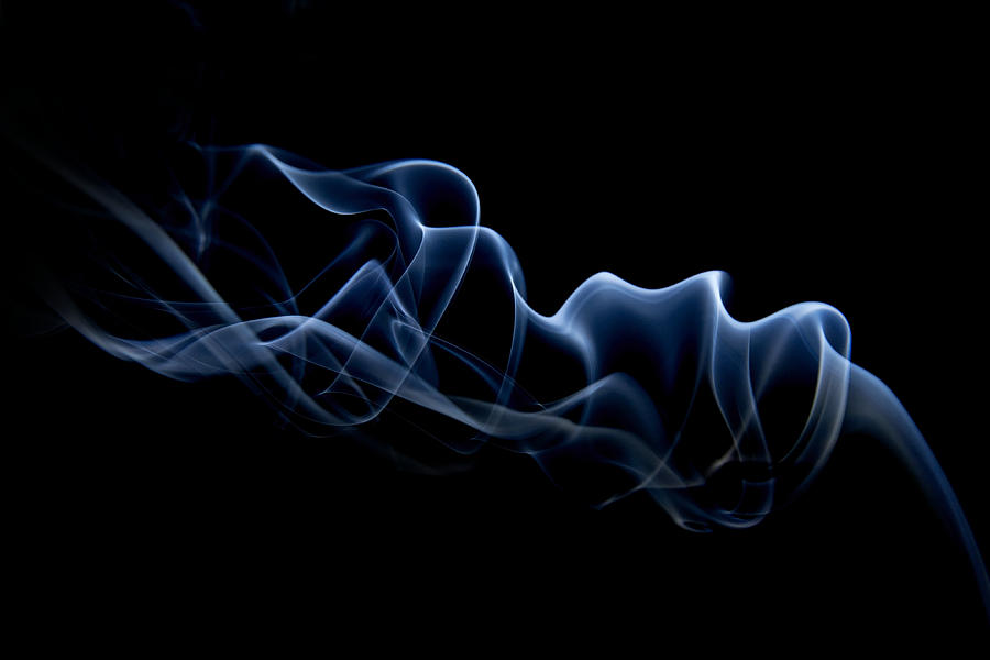 Smoke Photograph - Smoke Trail by Dagmar Woltereck