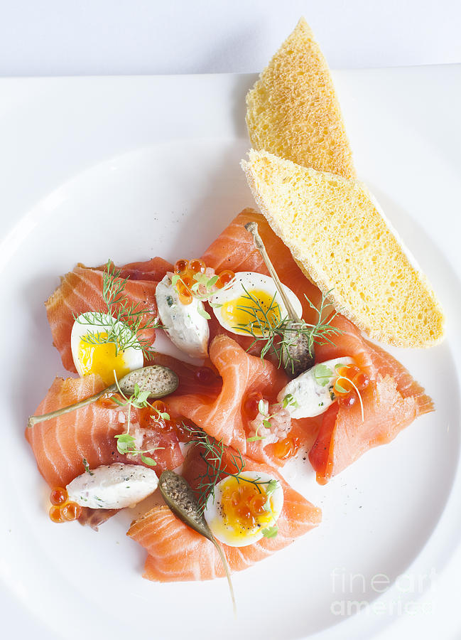 Cheese Photograph - Smoked Salmon And Cream Cheese by Chavalit Kamolthamanon