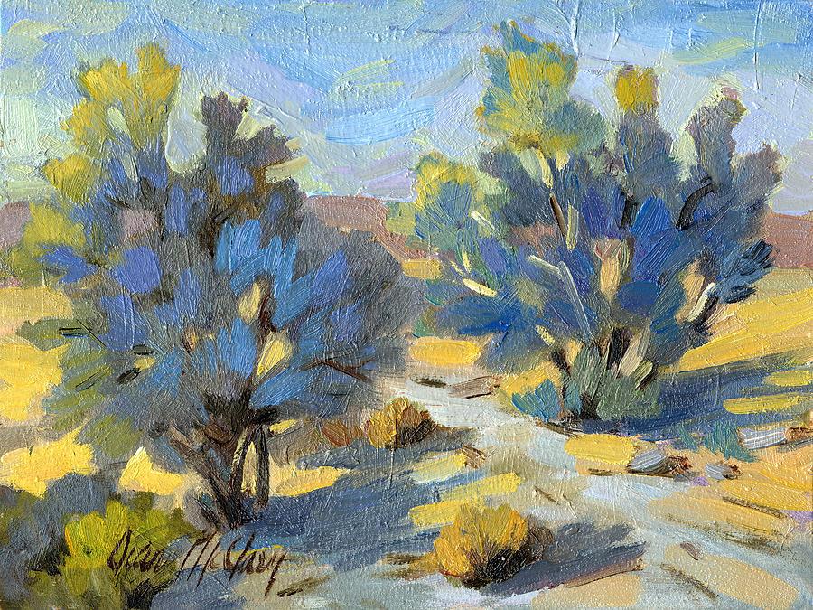 Smoketree Painting - Smoketrees Light And Shadow by Diane McClary