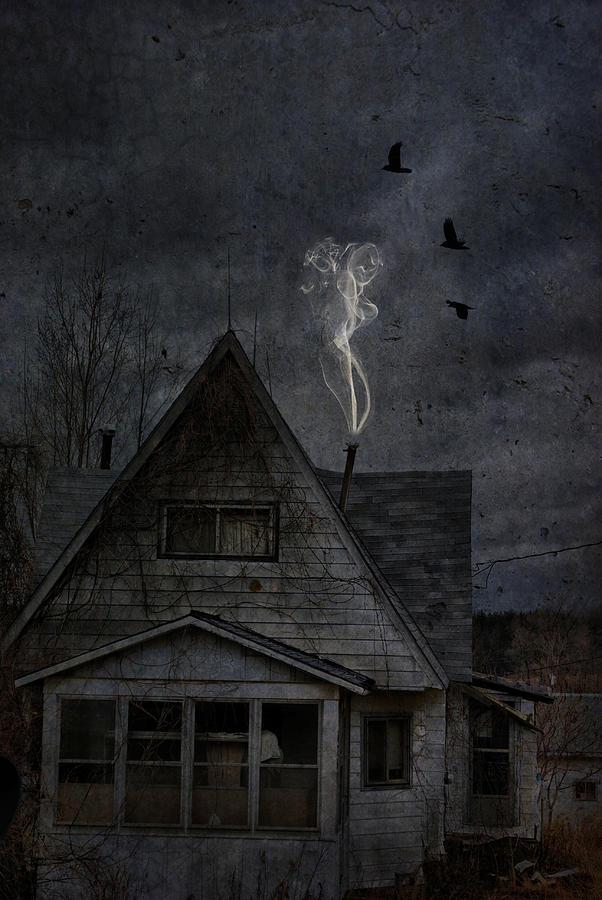 Abandoned House Photograph - Smokey Abandon by Emily Stauring