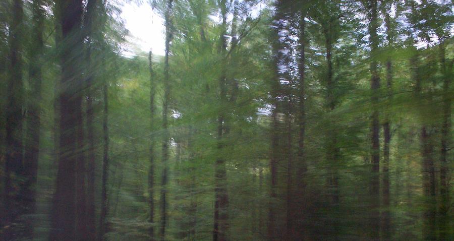Abstract Digital Art - Smoky Mountain Blur by Bill Kennedy