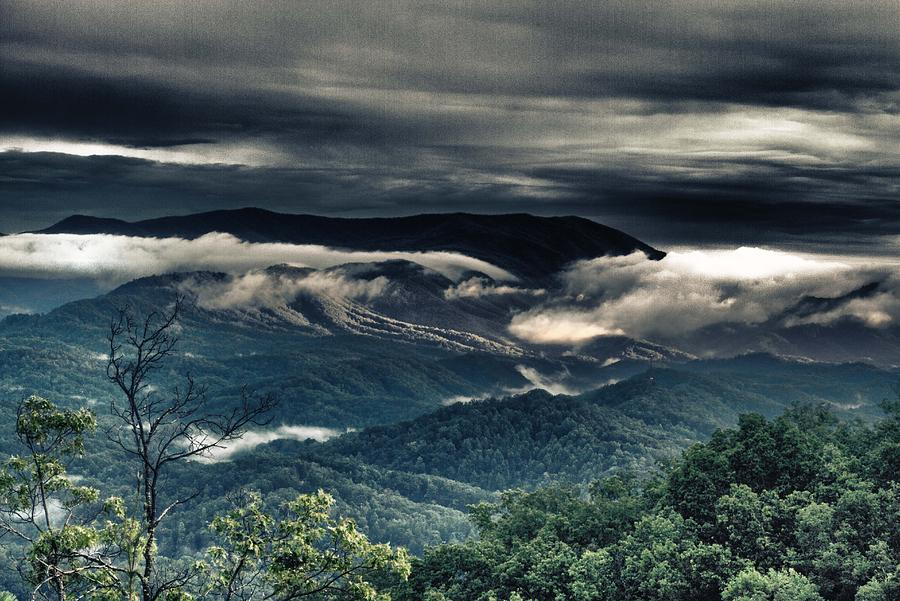 Mountains Photograph - Smoky Mountain Clouds    by Glenn Lawrence