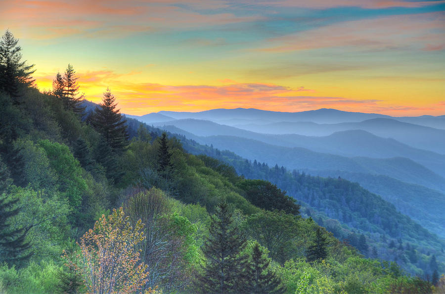 Smoky Mountain Morning Splendor Photograph By Mary Anne Baker