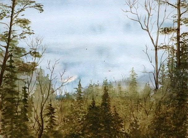 Mountains Painting - Smoky Mountain Rain by Travis Kelley