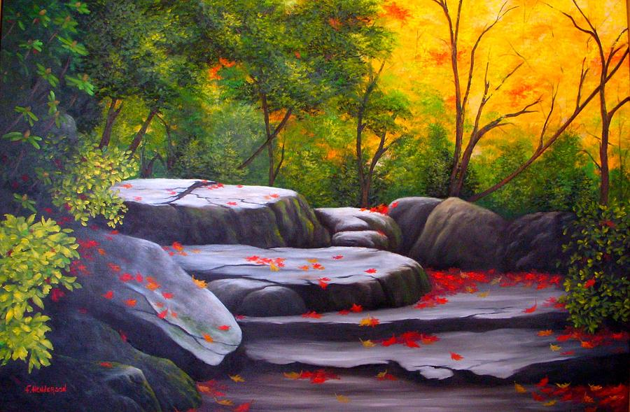 Smoky Mountains Painting - Smoky Mountain Solitude by Francine Henderson