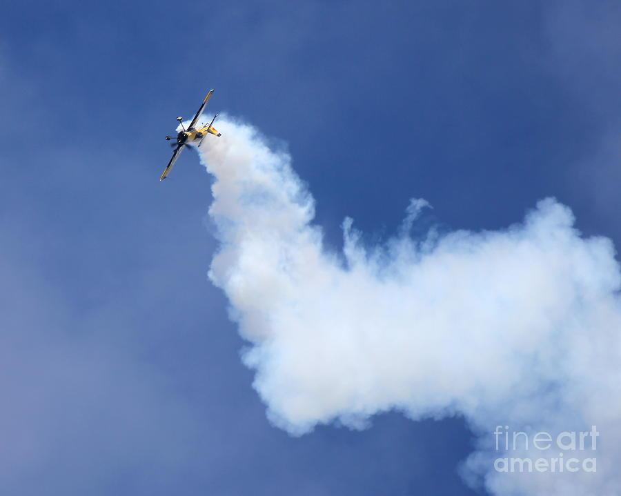 Aerobatic Photograph - Smoky Trail by Alex Esguerra