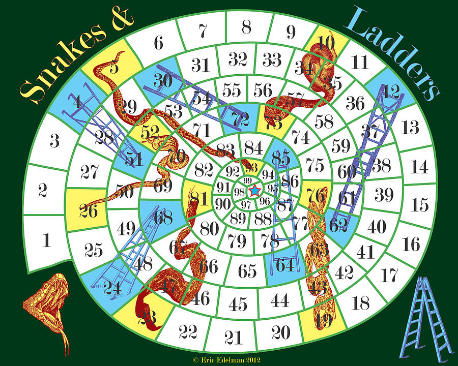 Snakes And Ladders Digital Art