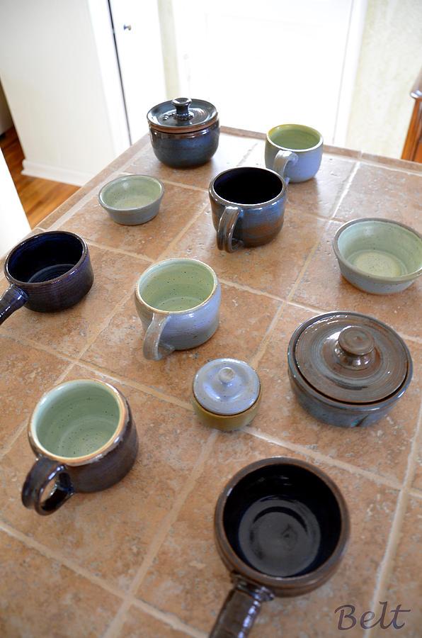 Ceramic Photograph - Snickerhaus Pottery by Christine Belt