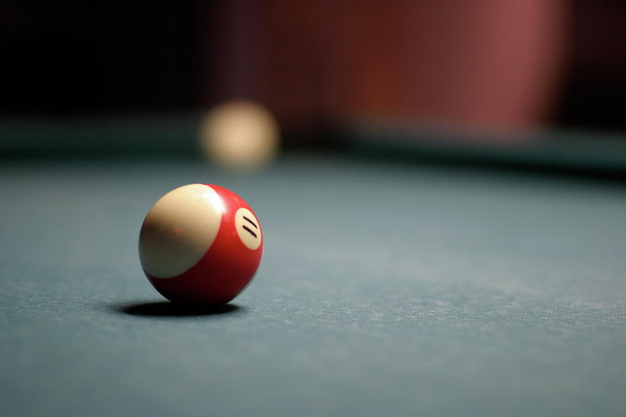 Horizontal Photograph - Snooker Ball by Photo by Andrew B. Wertheimer
