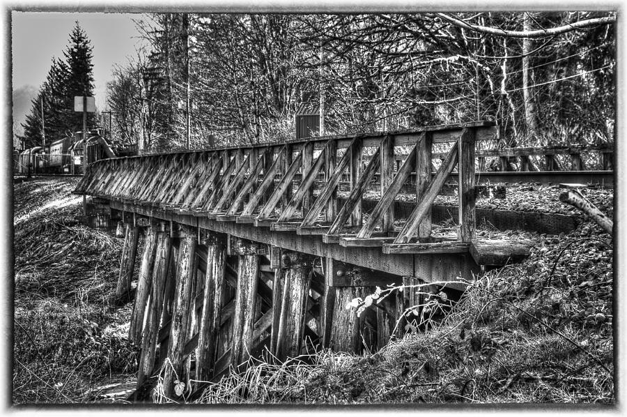 B&w Photograph - Snoqualmie Trestle by Scott Massey