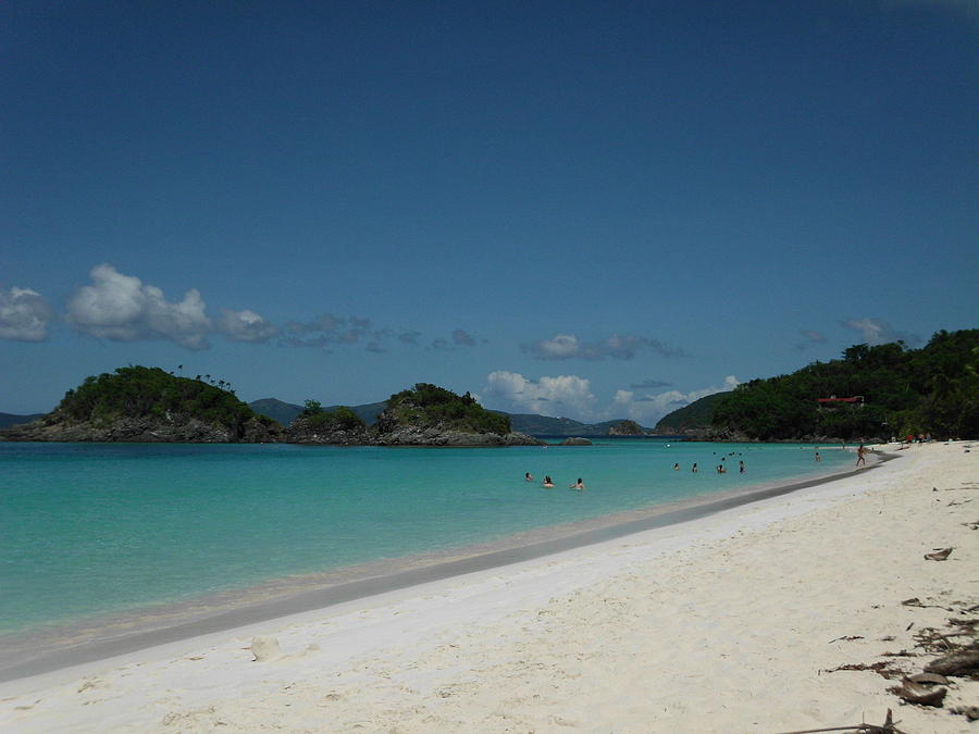Snorkeling At Trunk Bay Photograph by Eve Ustas