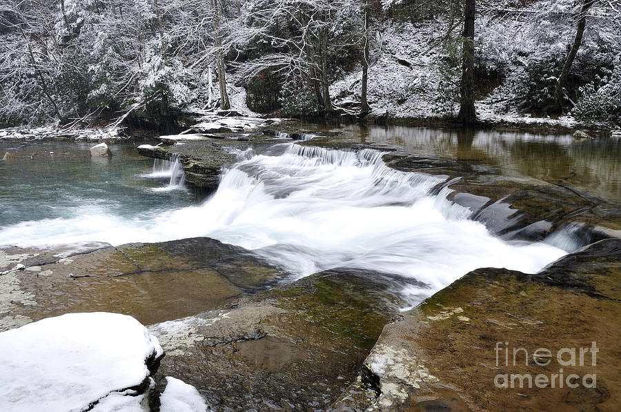 Waterfall Photograph - Snow Along The Back Fork Of Elk River by Thomas R Fletcher