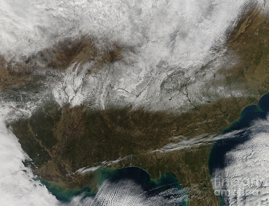 Snowstorm Photograph - Snow Cover Stretching From Northeastern by Stocktrek Images