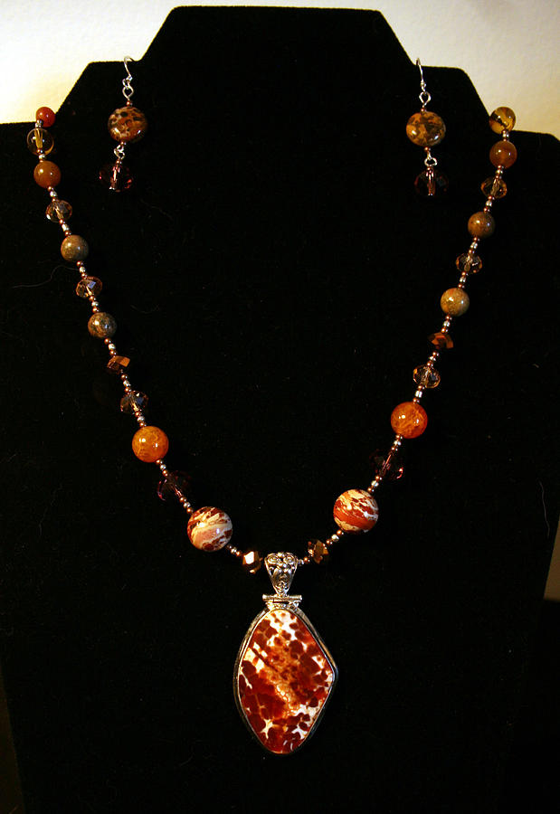 Agate Jewelry - Snow Crab Agate by Cheryl Scribner