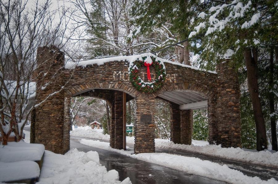 Asheville Photograph - Snow Gate  by Joye Ardyn Durham