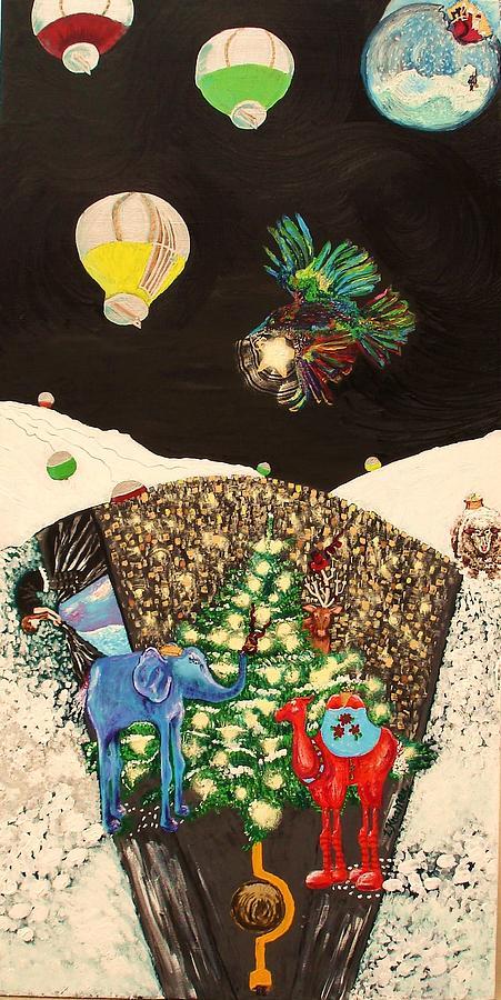Holiday Painting - Snow Globe by Lisa Kramer
