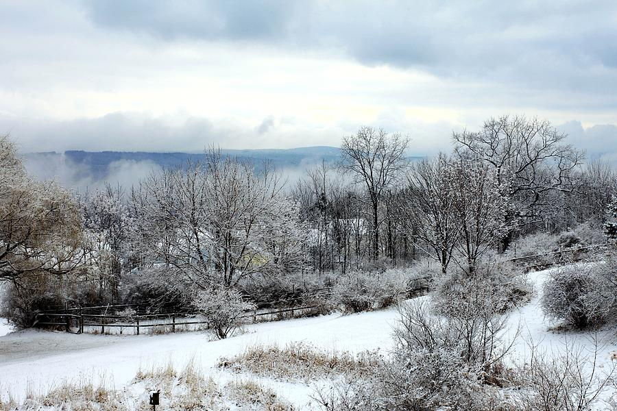 Snow Photograph - Snow In Winter Ithaca New York by Paul Ge