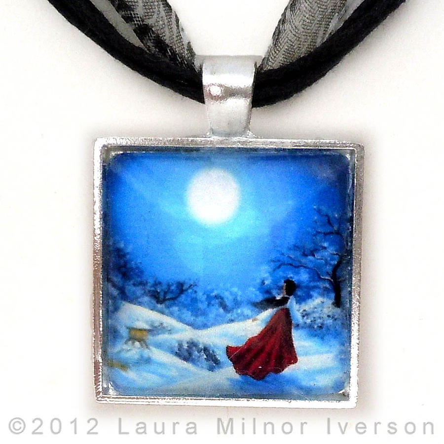 Jewelry Jewelry - Snow Like Stars Handmade Pendant by Laura Iverson