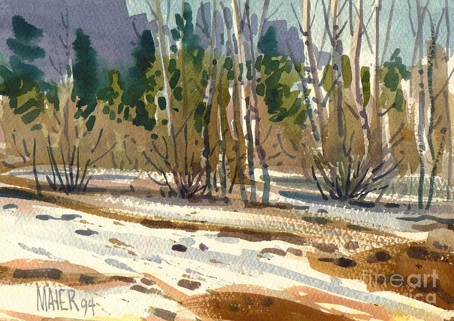Yosemite Painting - Snow Melt by Donald Maier