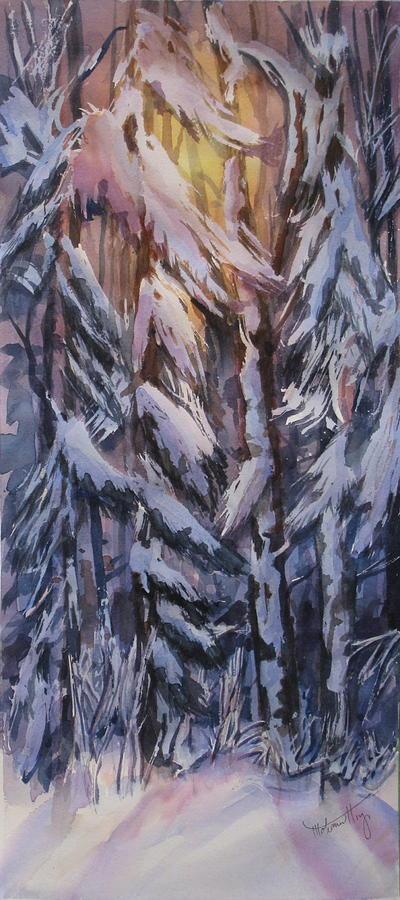 Snow Painting - Snow Splattered 1 by Mohamed Hirji