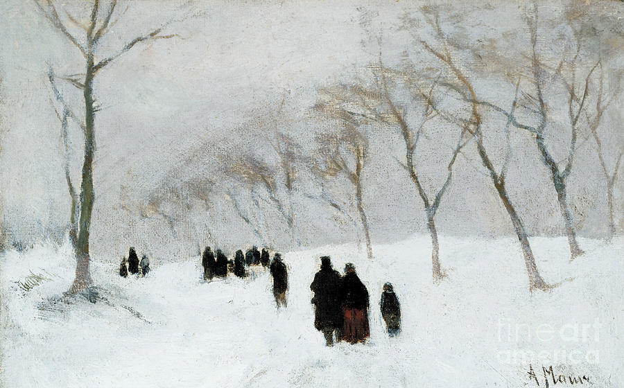 Snow Storm Painting By Anton Mauve