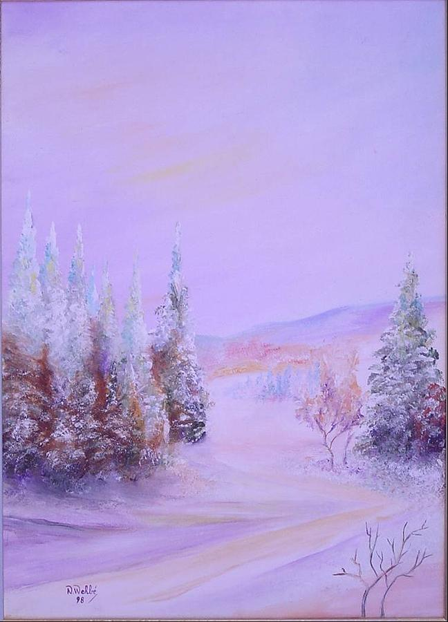 Snow1 Painting by Nabil Wehbe