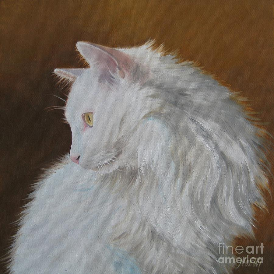 Animal Painting - Snowball by Jindra Noewi