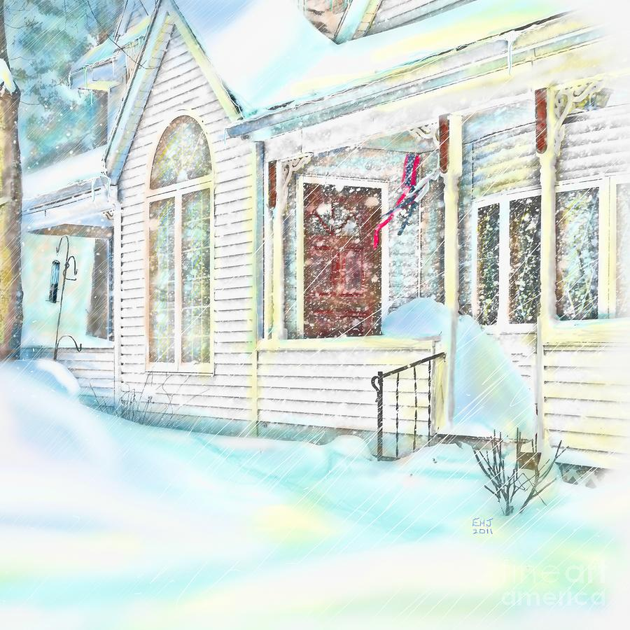 Snow Painting - Snowbound  by Earl Jackson