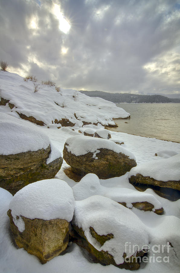 Coeur D'alene Photograph - Snowcapped by Idaho Scenic Images Linda Lantzy