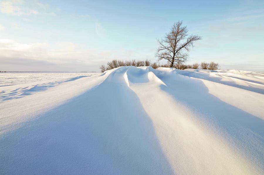 Horizontal Photograph - Snowdrift by Susan McDougall Photography