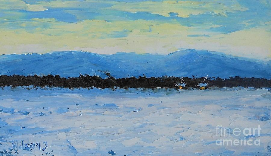 Winter Painting - Snowed In by Fred Wilson