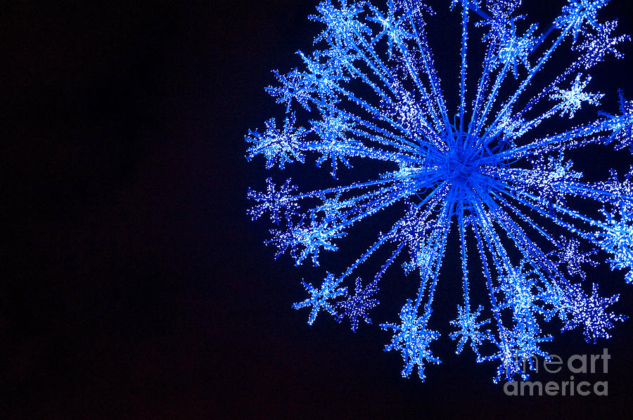 Blue Photograph - Snowflake Sparkle by Anca Jugarean