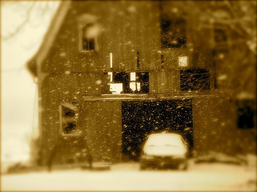 Landscape Photograph - Snowflakes by Arthur Barnes