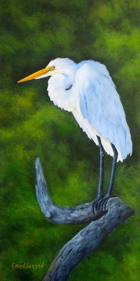 Egret Painting - Snowy Egret by Francine Henderson