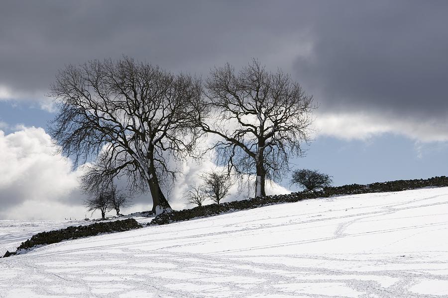 Cloud Photograph - Snowy Field, Weardale, County Durham by John Short