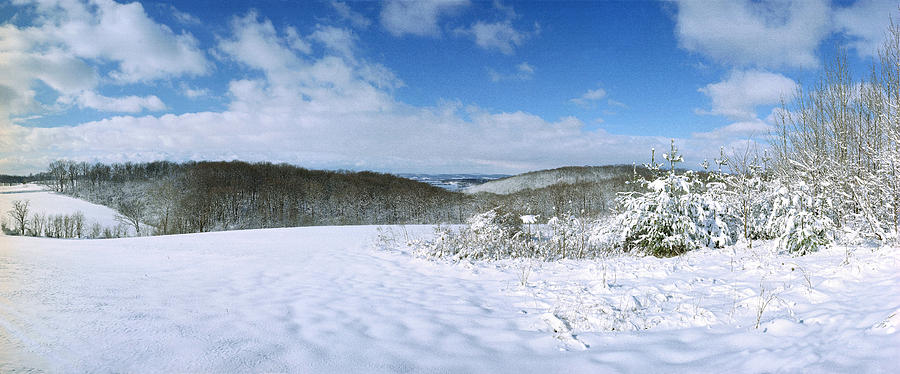 Snow Photograph - Snowy Hill by Jan W Faul