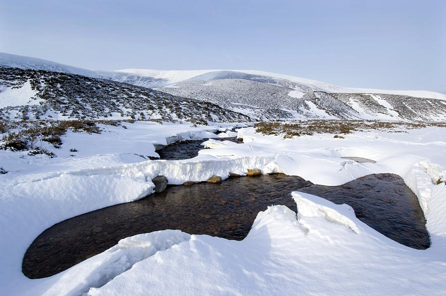 Countryside Photograph - Snowy Landscape, Scotland by Duncan Shaw
