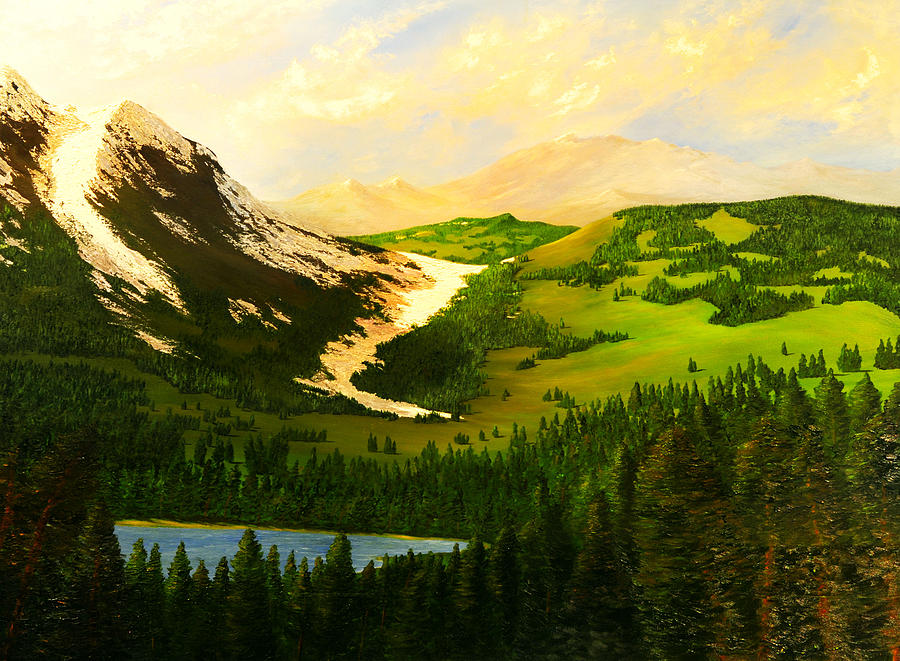 Landscape Painting - Snowy Mountain by Nelson