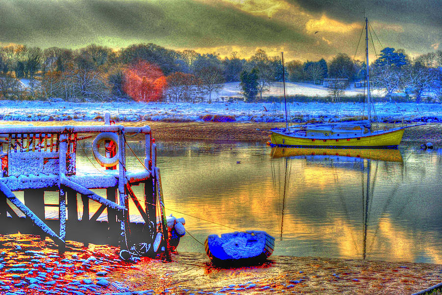 River Photograph - Snowy River Sunset by Jane James