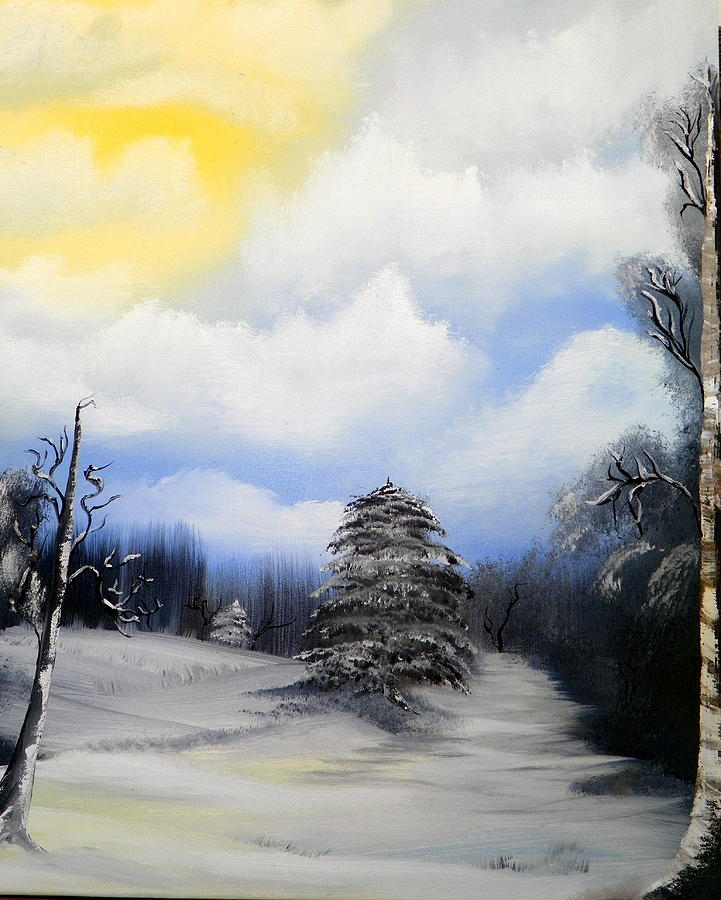 Nature Painting - Snowy Sunshine by Amity Traylor