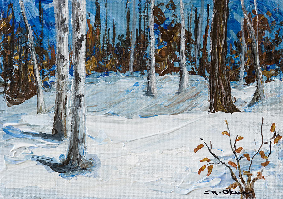 Snowy Woods Painting By Nicole Okun