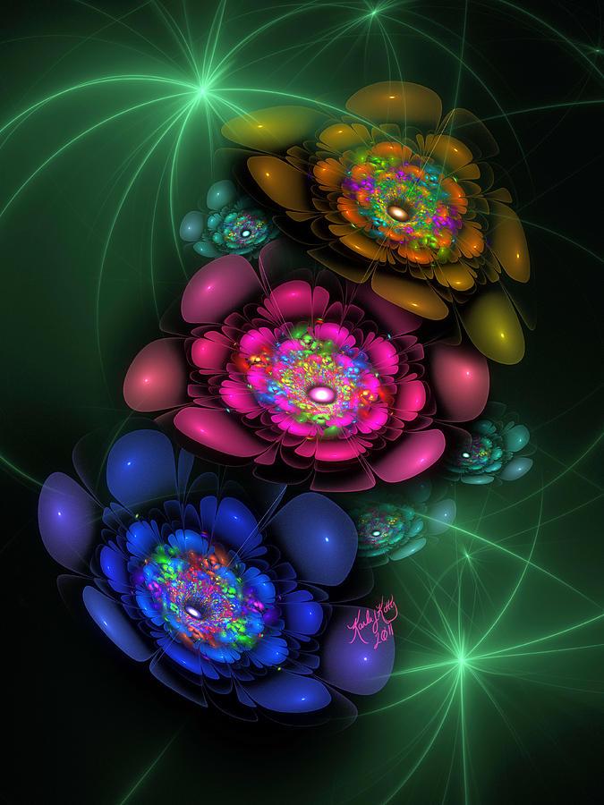 Fractal Digital Art - So Festive by Karla White