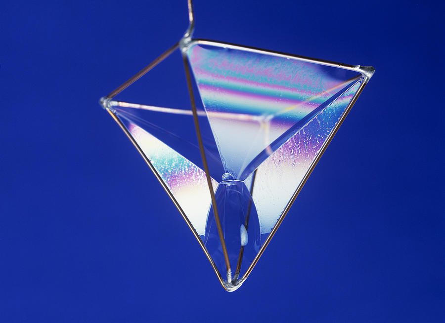Bubble Photograph - Soap Films On A Pyramid by Andrew Lambert Photography