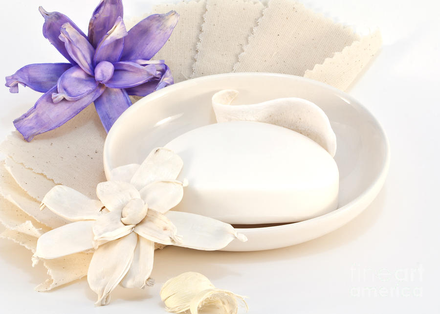 Soap Photograph - Soap With Flowers by Blink Images