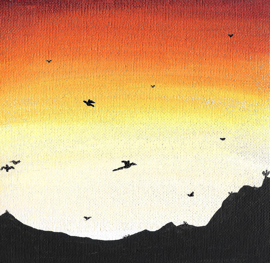 Soaring Painting - Soaring Sunset 2 by Jera Sky