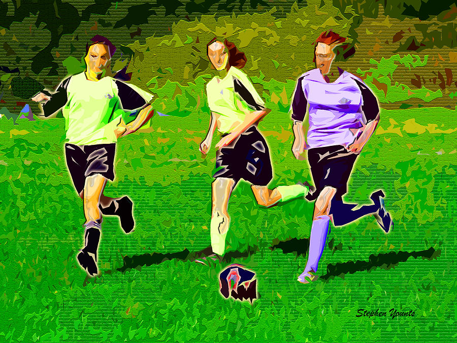Soccer Digital Art - Soccer by Stephen Younts