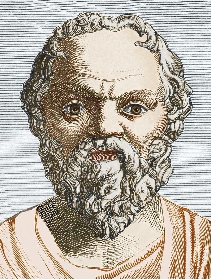 Socrates Photograph - Socrates, Ancient Greek Philosopher by Sheila Terry