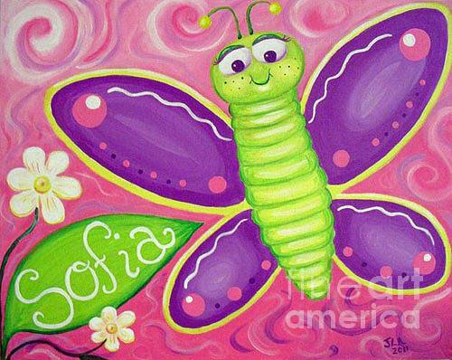 Butterfly Painting - Sofia Butterfly by Jennifer Alvarez